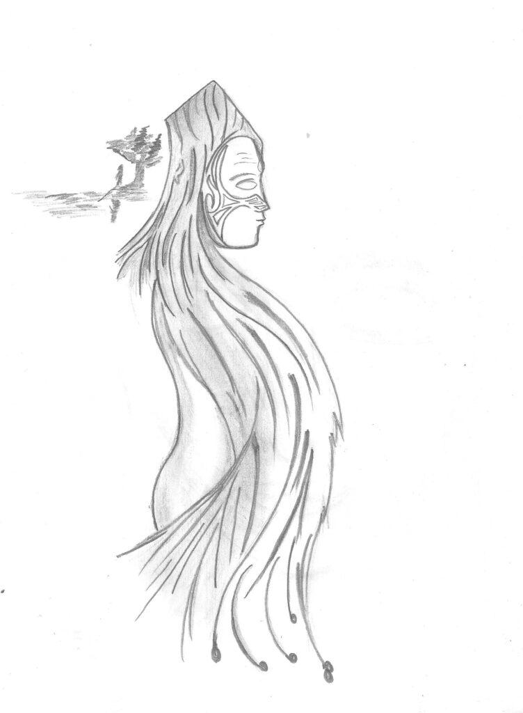 boceto de dibujo mujer