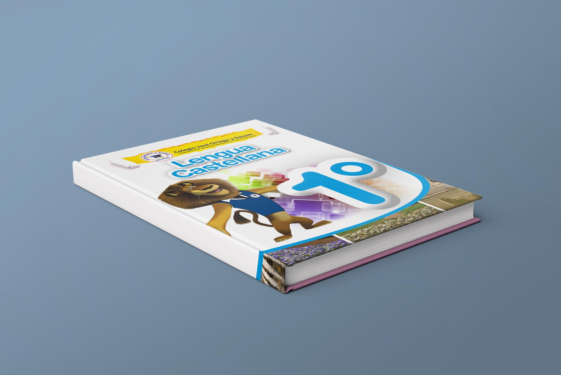 portada de libro sobre una mesa